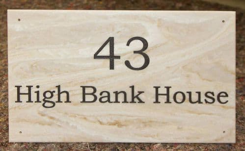 Engraved Stone-Like Corian House Signs | The Sign Maker Shop